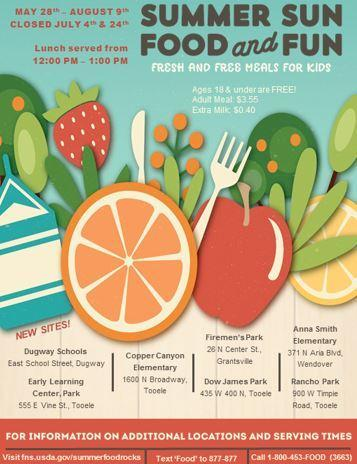 Summer lunch flier