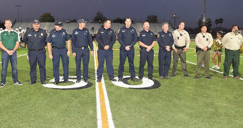 9/21 was First Responders Appreciation Night at Lakeside High School, where law enforcement and fire fighters received a tribute!