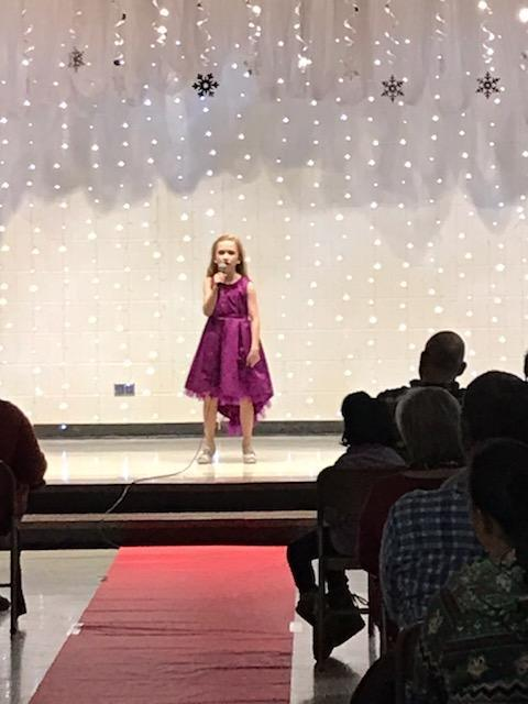 Singer at Talent Show.