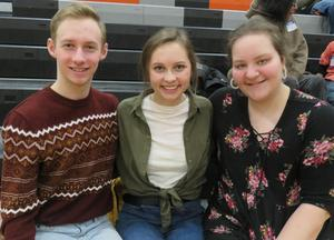 Jack Schneider, Grace Hauschild and Katie Dinkel have been in every production since fifth grade.