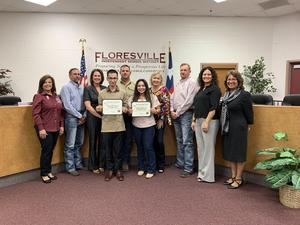 October Students of the Month with Administration