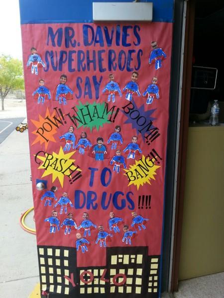 Superheroes say: Pow! Wham! Boom!! to drugs