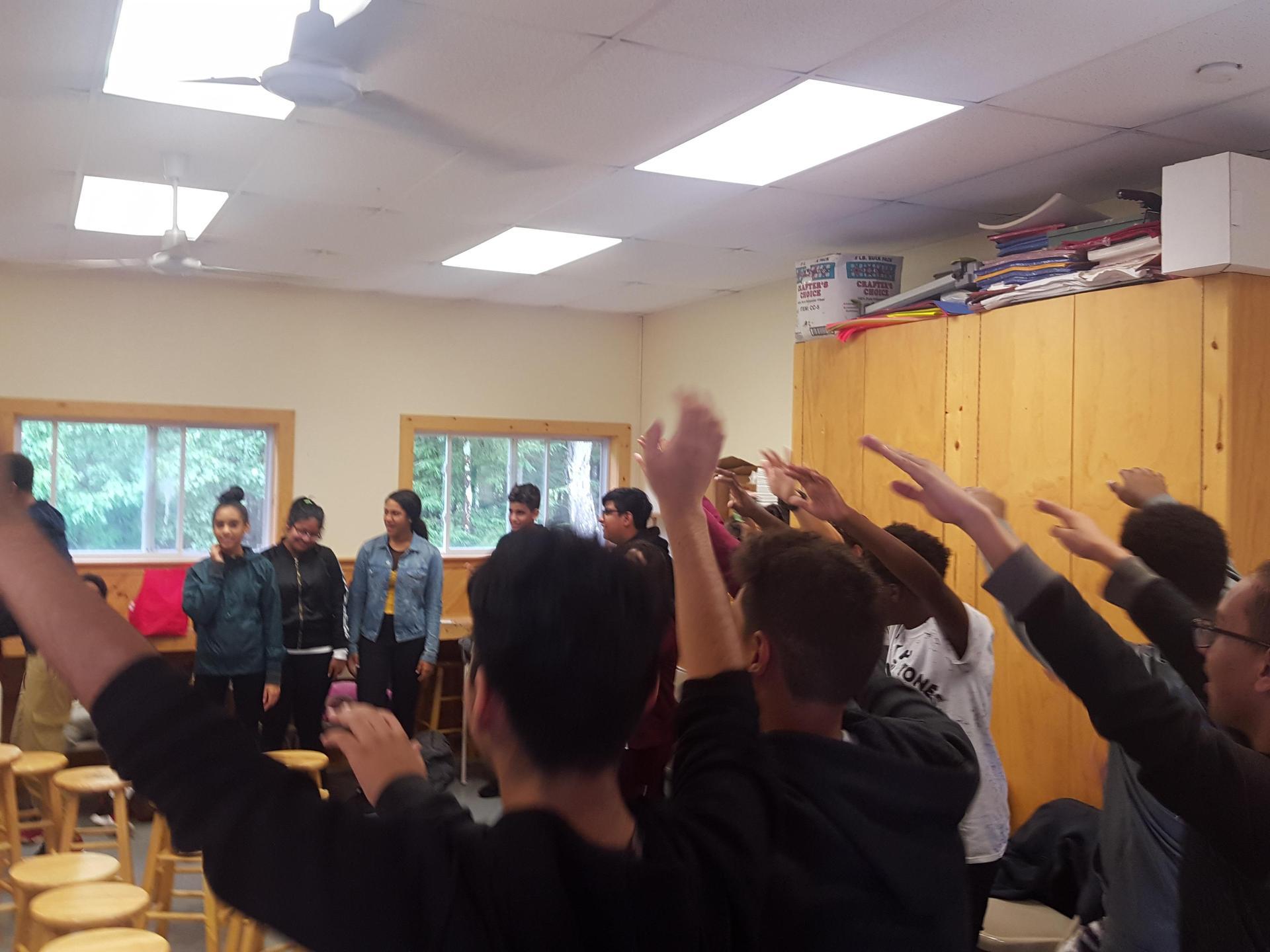 PGC Students at Retreat