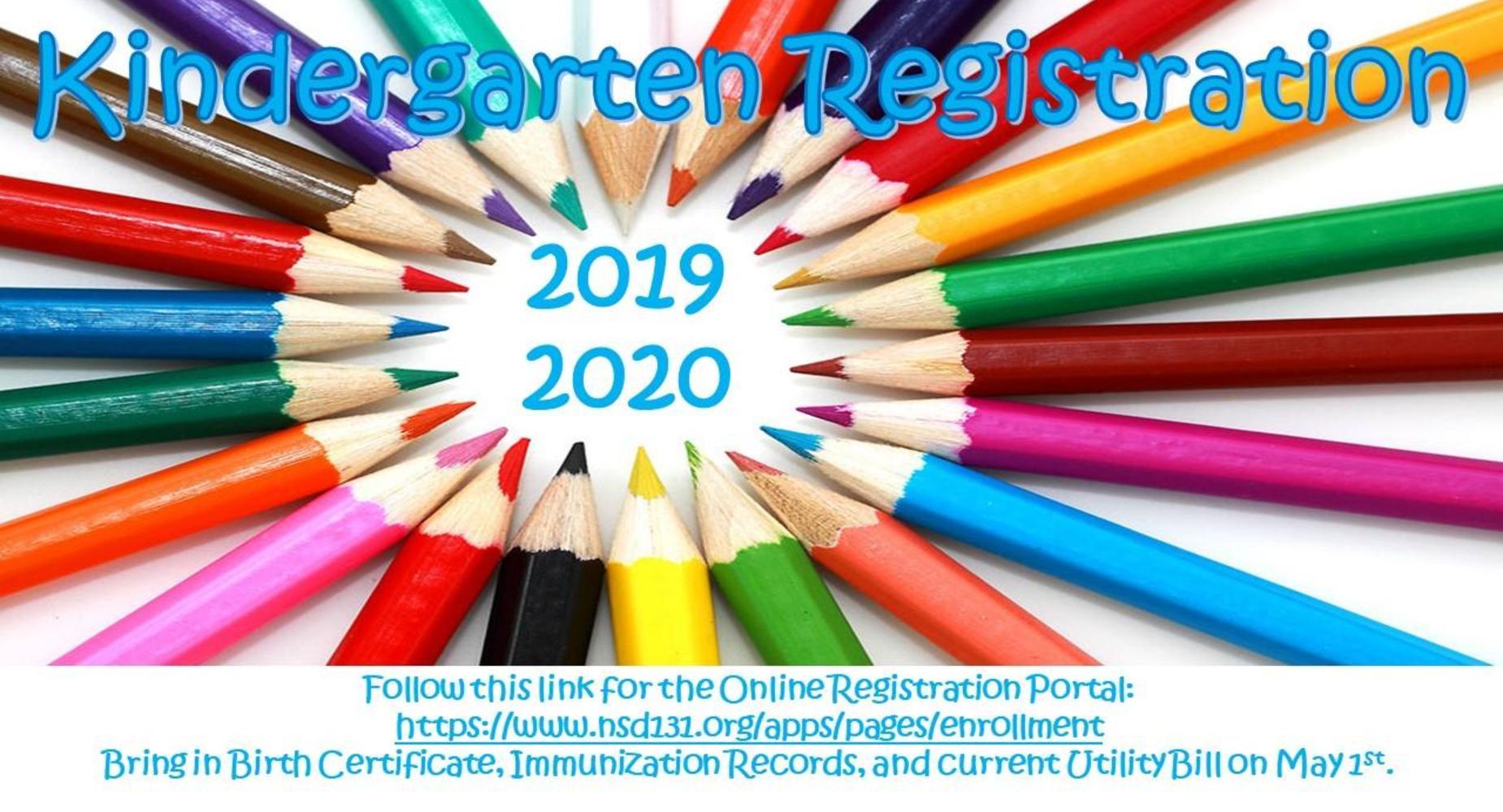Kindergarten Registration Pencils