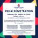 Pre-K Registration Informational flyer