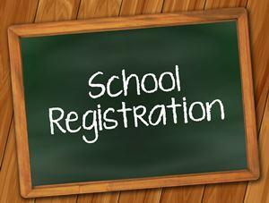 New school registration banner