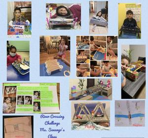 Students with their challenge project collage