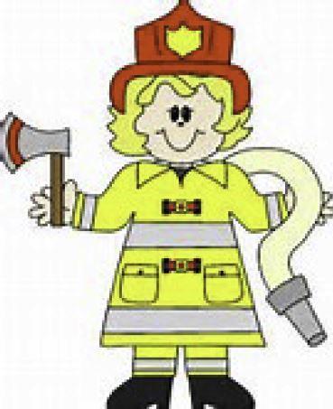 clip art of female firefighter