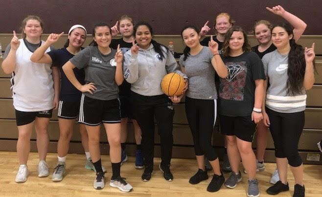 Girls Basketball team at Wilkes Early College High School