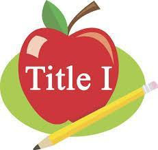 A graphic of an apple with the phrase Title One written across it