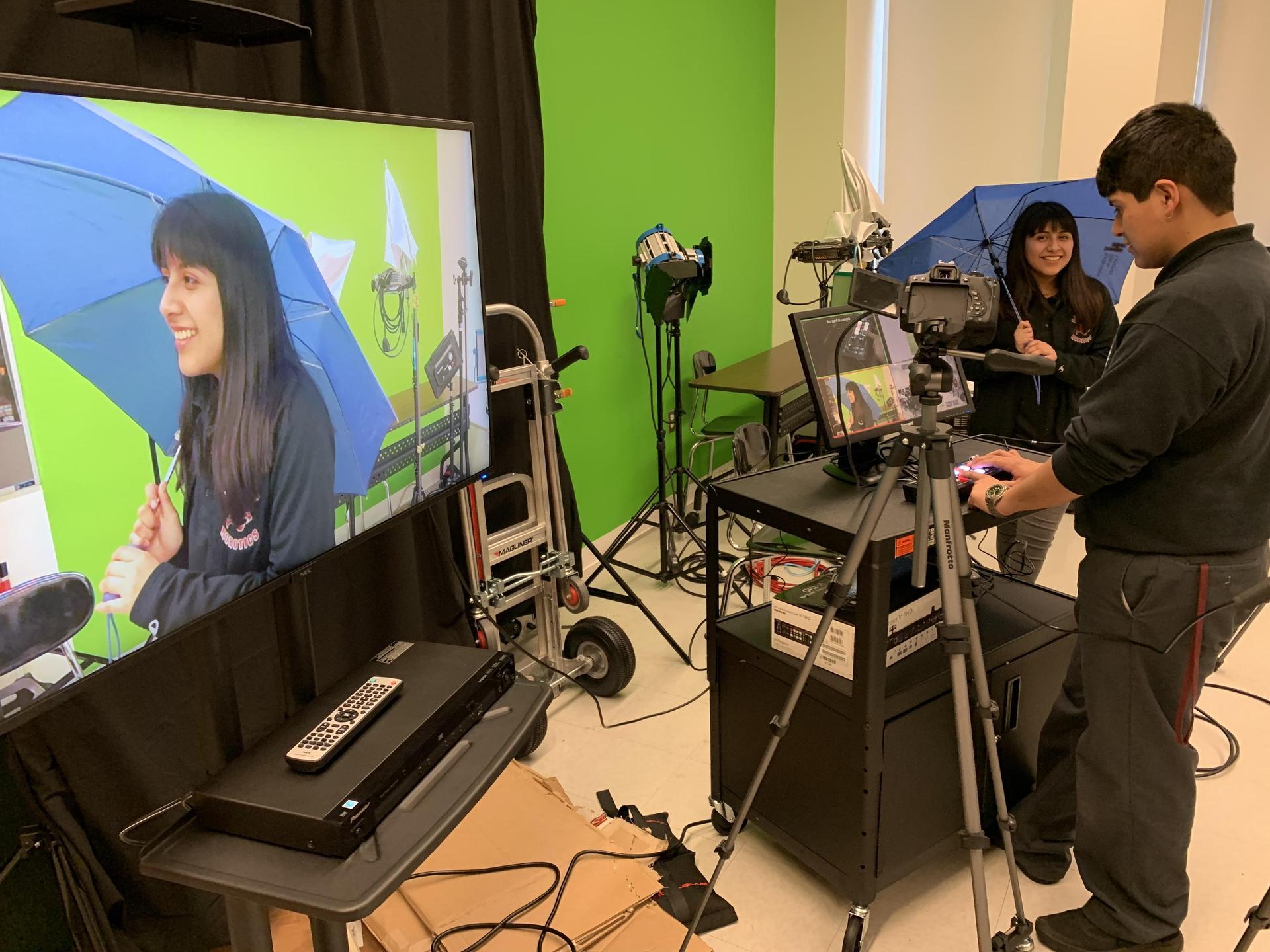 Tech Practice in classroom