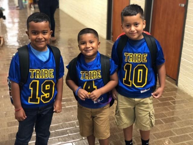 FD Students dressed in FD football jerseys