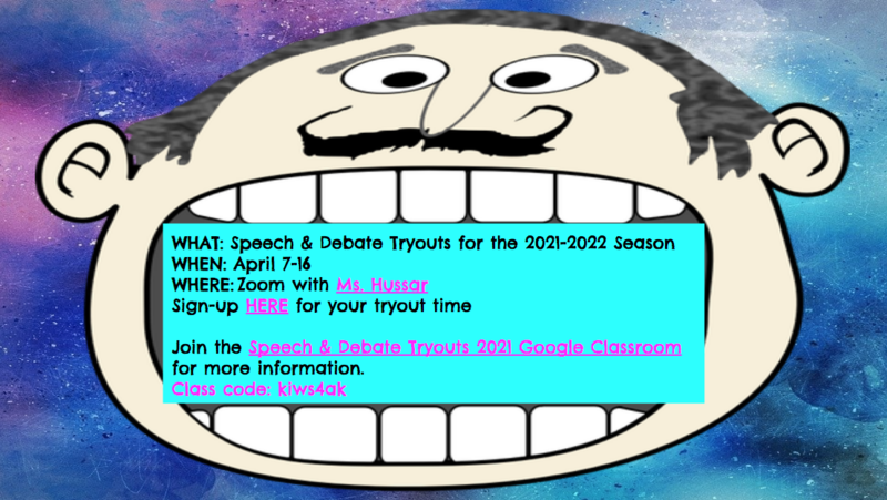 JMS Speech & Debate Tryouts for 2021-2022 Season Featured Photo