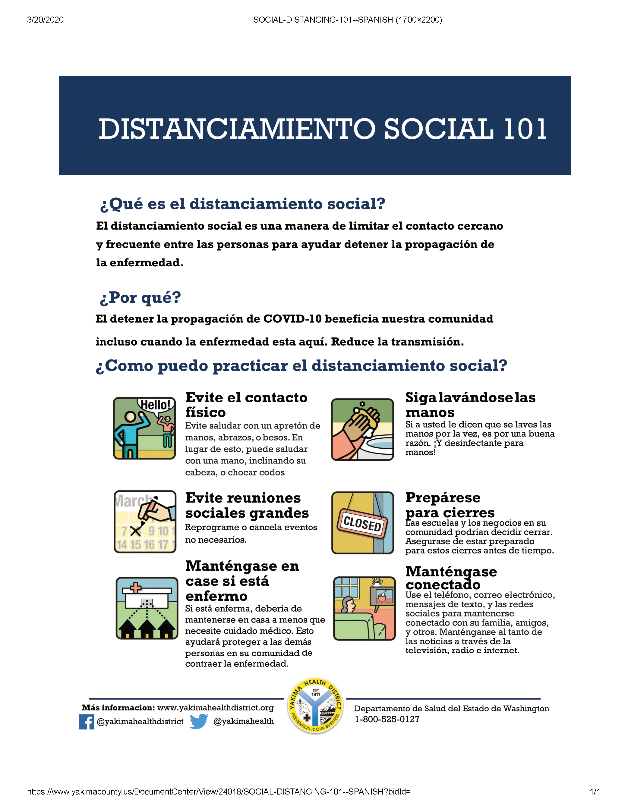 Social Distancing 101 Spanish