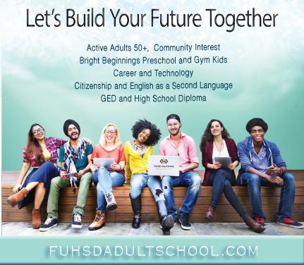 Fuhsd Adult School Quarter 3 Catalog Cover