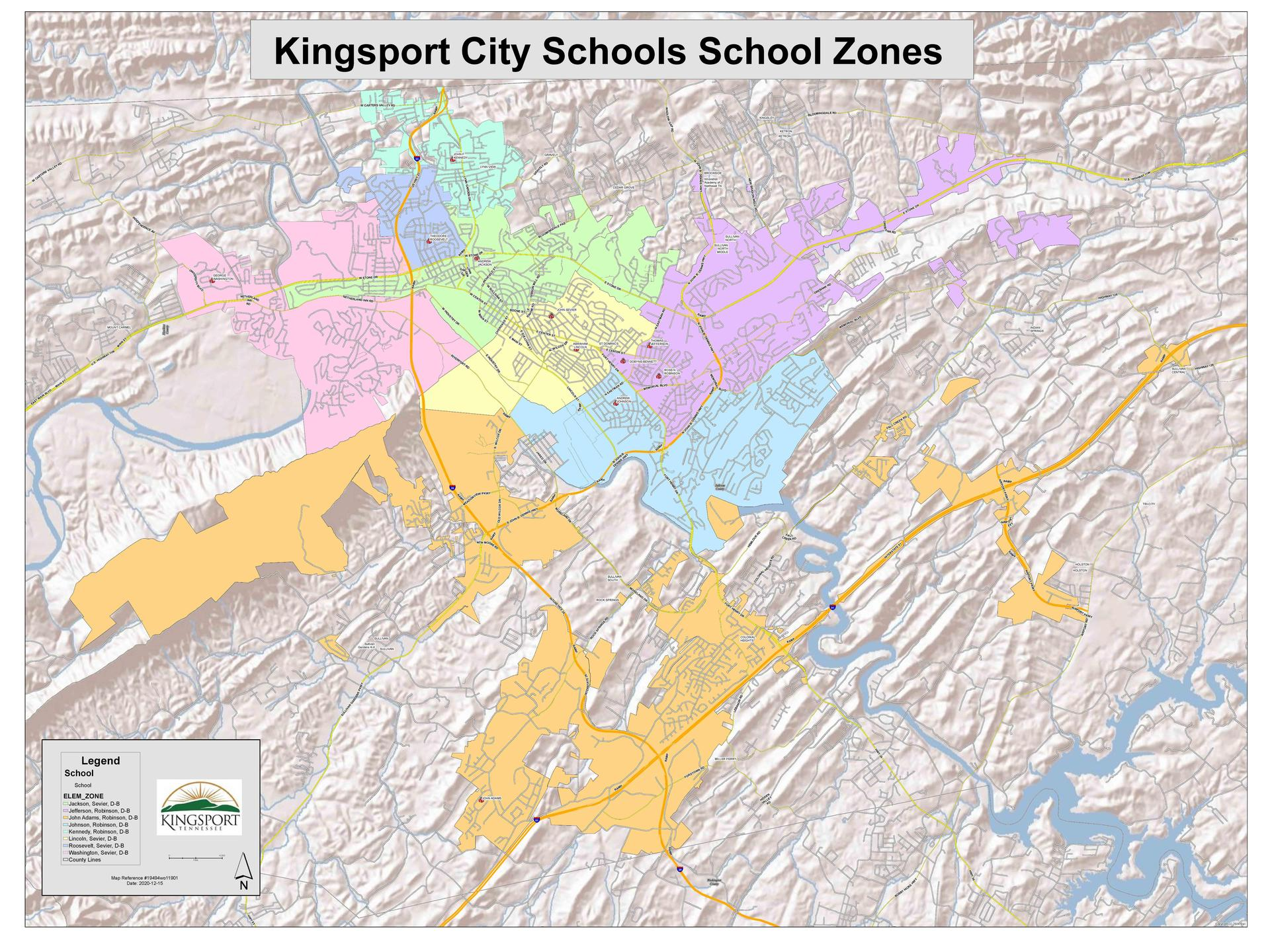 KCS School Zones map