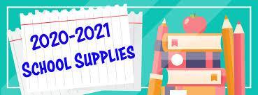 2020-2021 school supply image