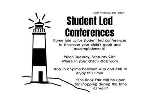 Student Led Conference Flyer