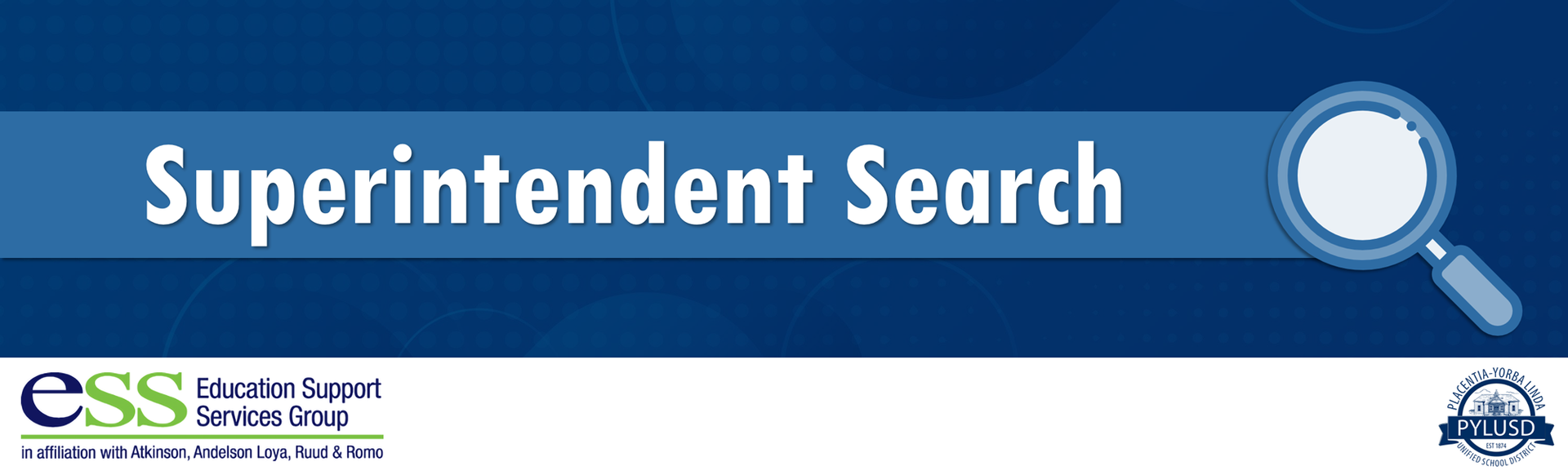 Superintendent Search banner.