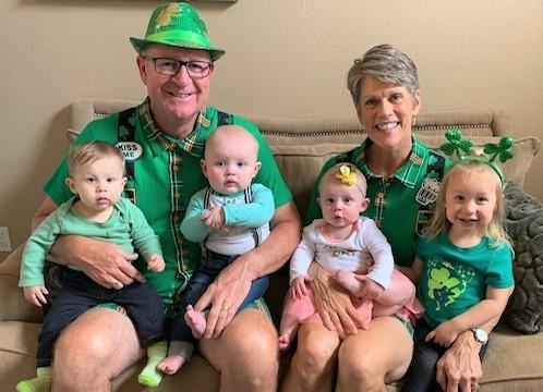 St Patrick's Day with grandchildren