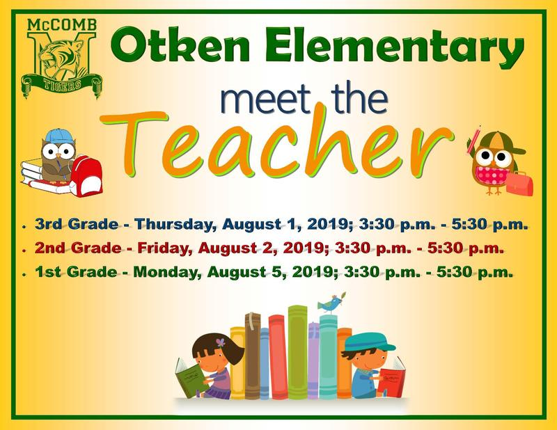 Otken Elementary Meet the Teacher flyer 2019