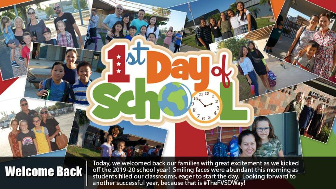 Welcome Back to FVSD!  A great first day for 2019-20