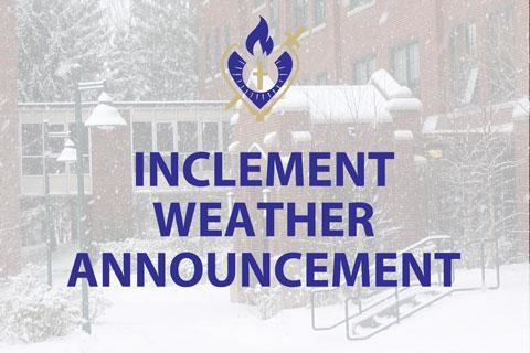 OLSH inclement weather announcement