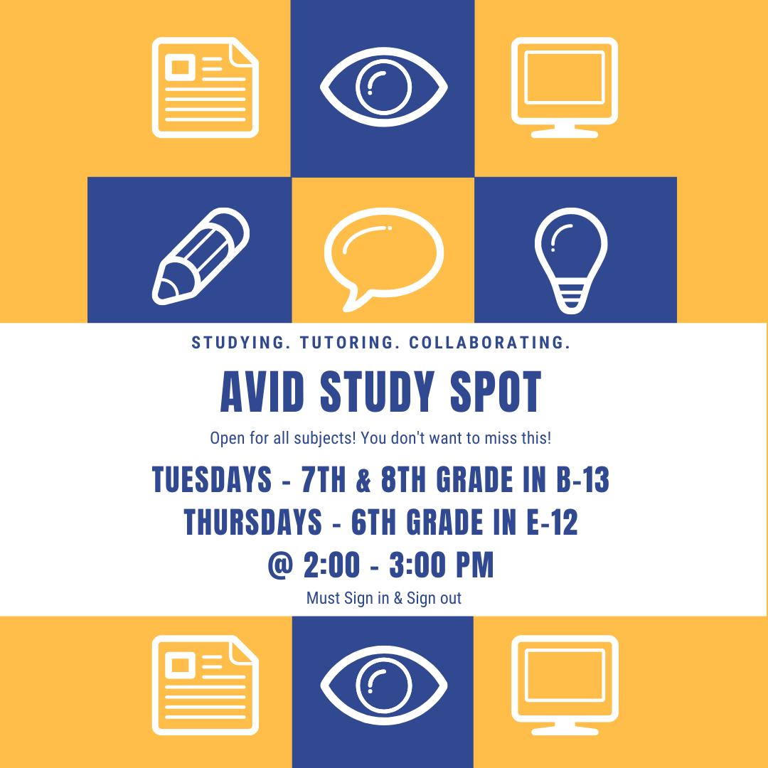 Study Spot Schedule