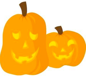 Clip art of two pumpkins