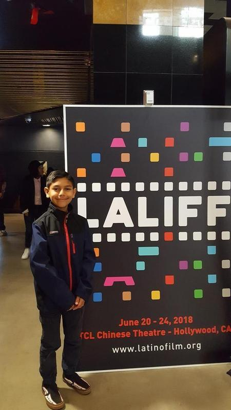 Andres Jarillo, Midland Elementary 4th grade student, was in attendance at LALIFF and starred in the class film