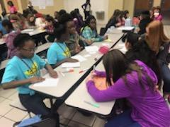 Beta members working hard on community Thank you cards.