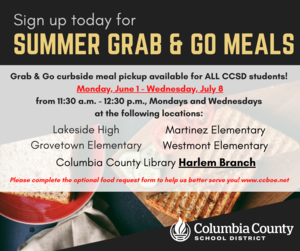 summer meals infographic