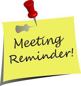SSC Meeting - Thursday, April 30th at 3pm Featured Photo