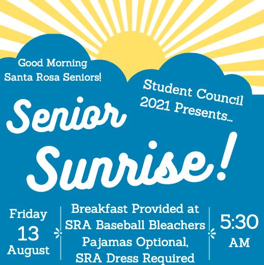 Senior Sunrise flyer