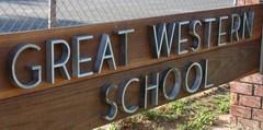 Great Western School Sign