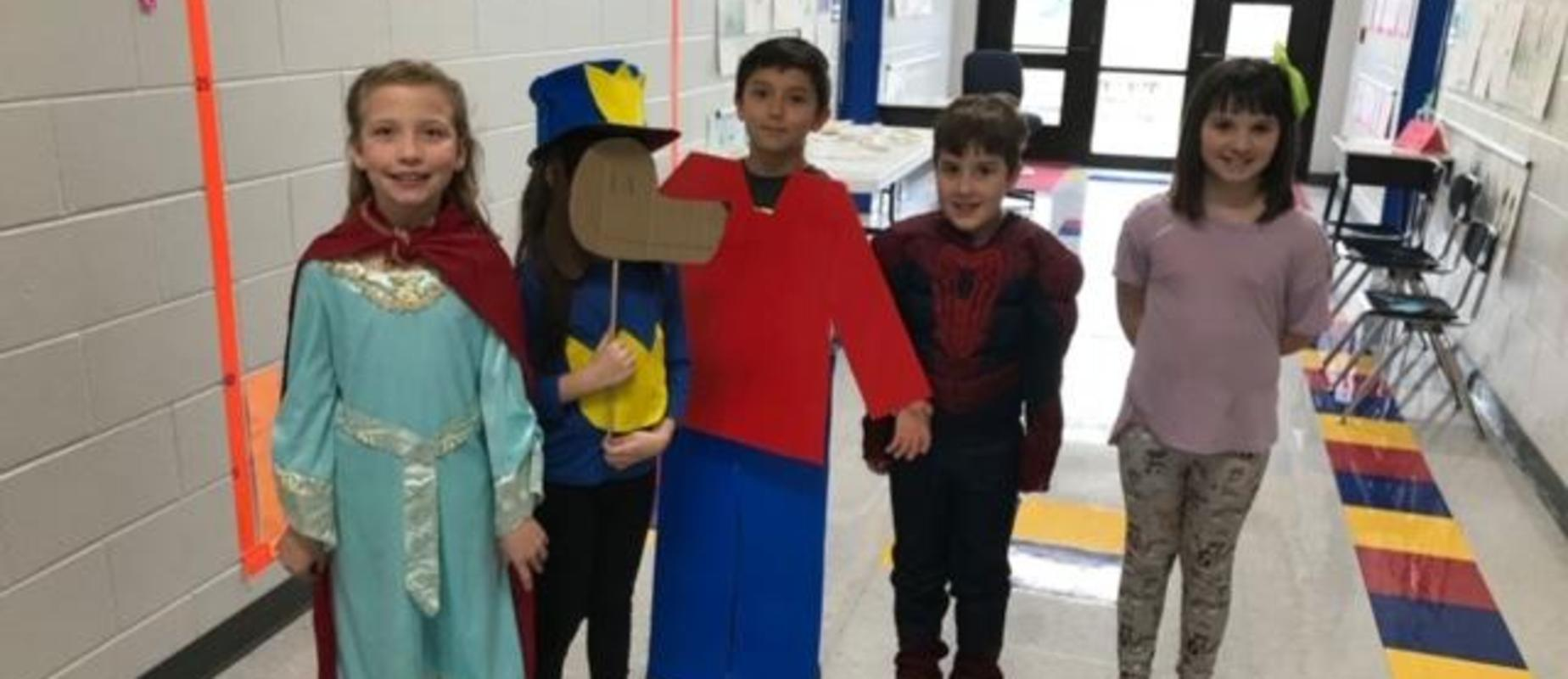Students as story book characters
