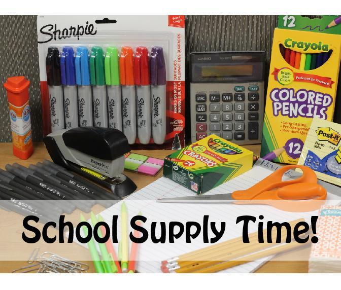School Supply Time!