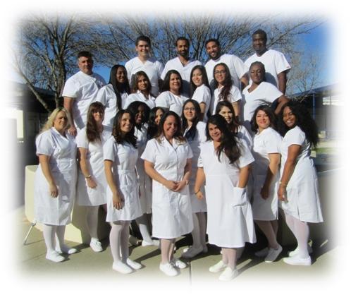 Class photo of Vocational Nursing Class 24 Graduates, February 2018