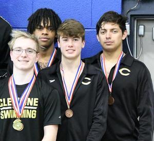 Boys bronze medal 200-yard relay team