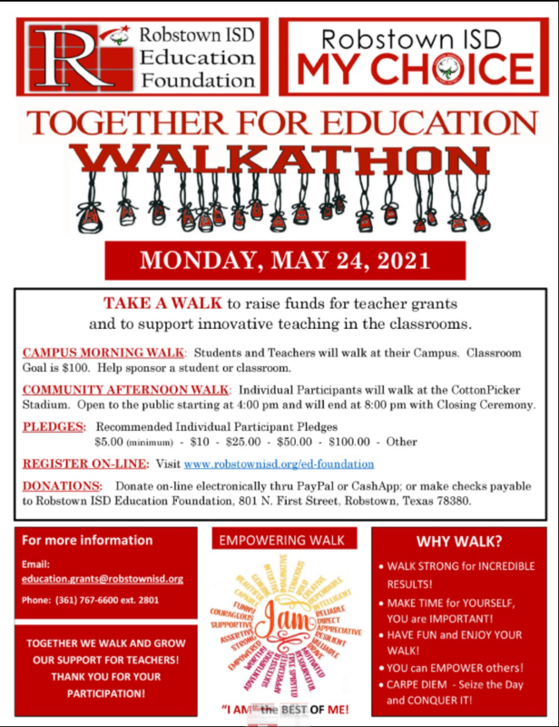 Education Foundation Walkathon (March 24th)---Donating Begins May 10 Featured Photo