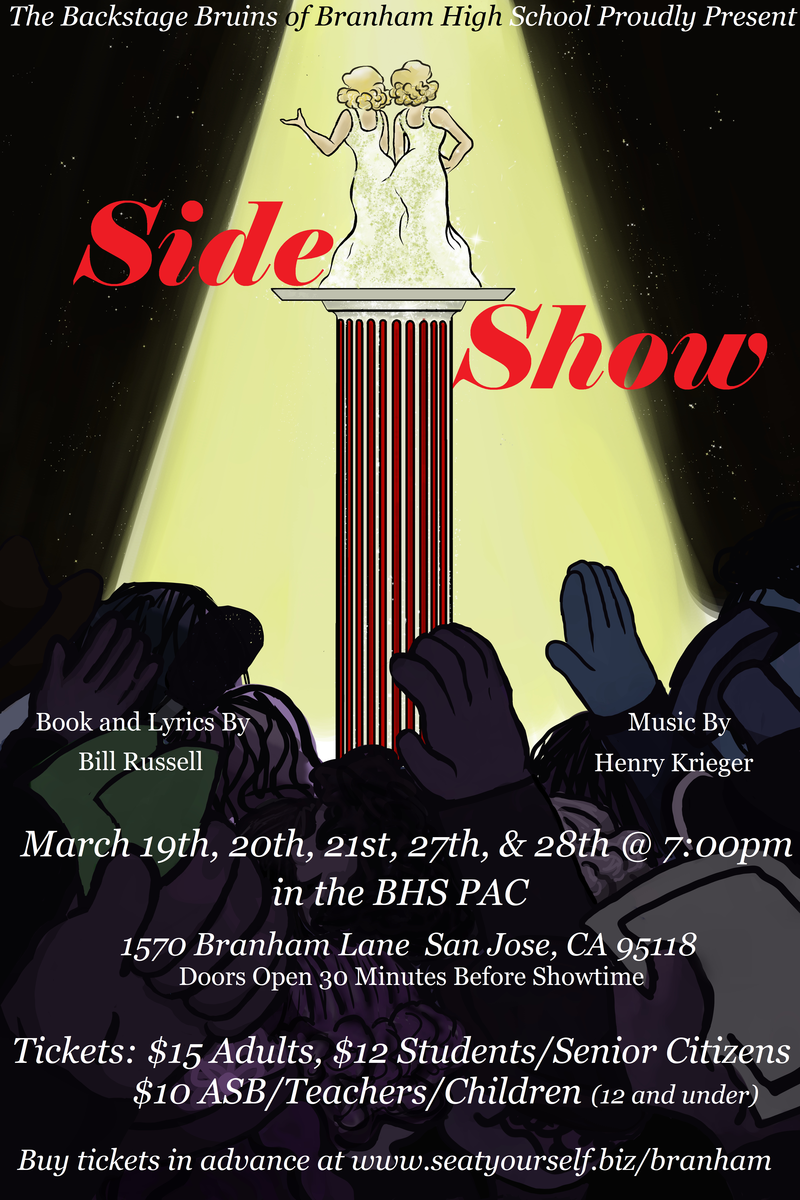 Poster for the spring musical Slide Show