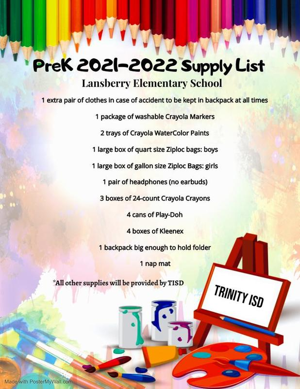 2021-2022 School Supply Lists Thumbnail Image