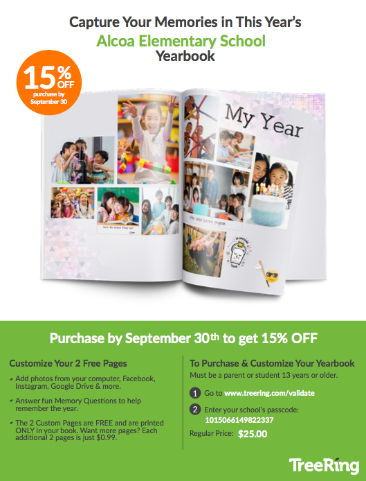 Order 2019-20 Yearbook before Sept 30th and save 15%