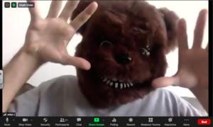 Mr. Campodonico as a bear