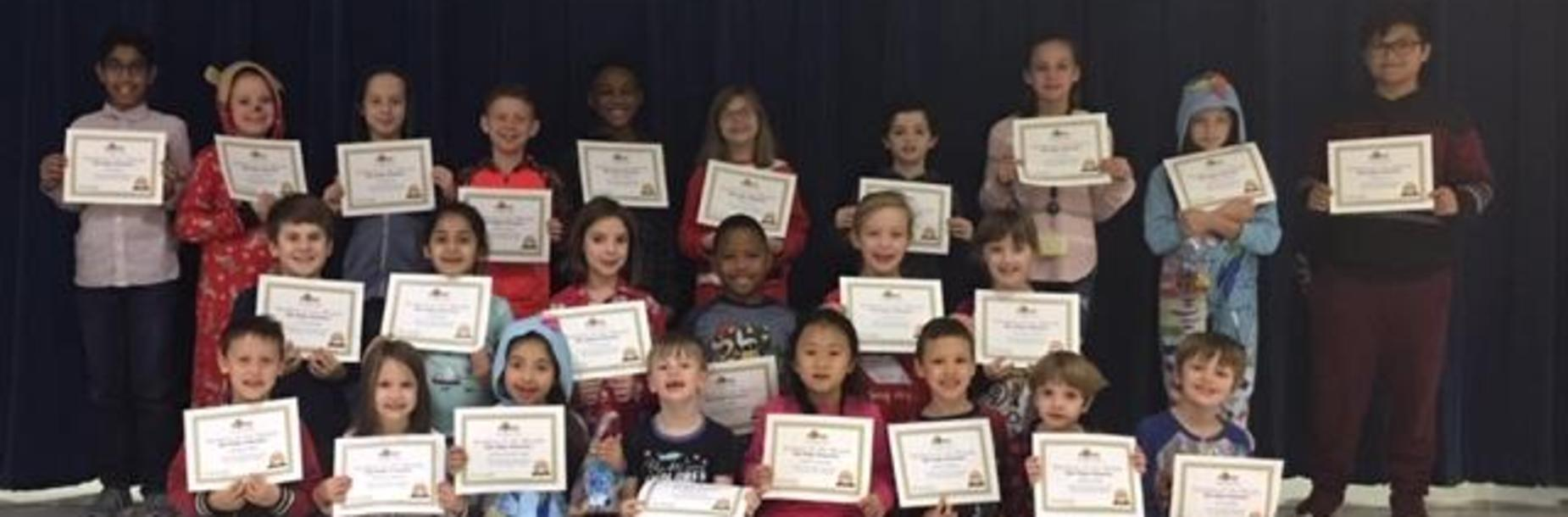 December 2018 Star Students of the Month