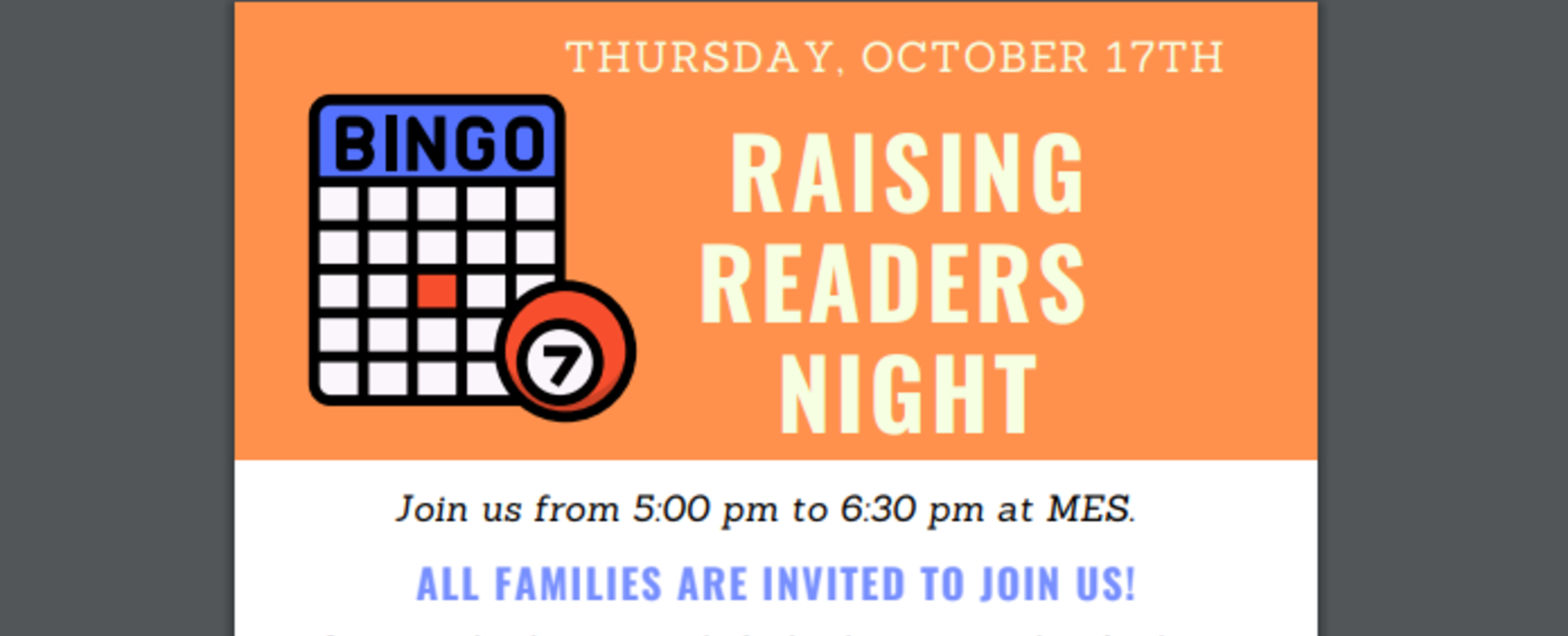 Bingo Raising Readers promo