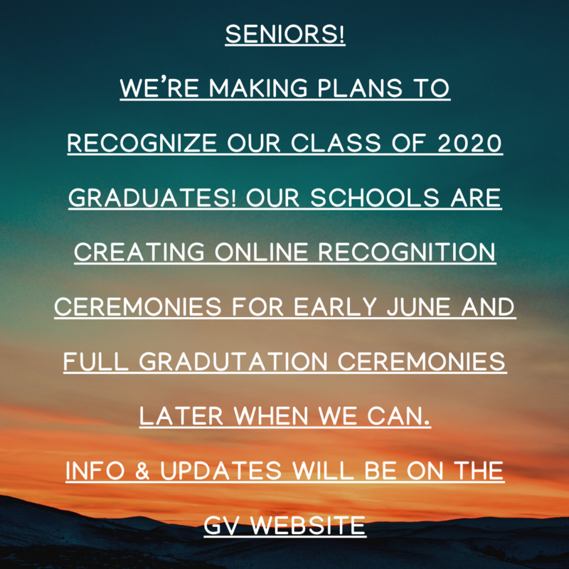 SENIORS!! Class of 2020 Information Featured Photo