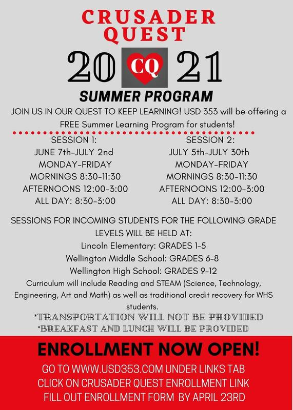 Enrollment Now Open for USD 353's FREE Summer Learning Program! Featured Photo