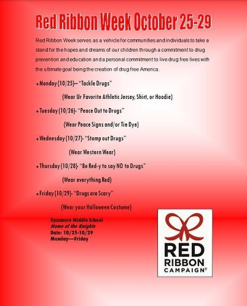 Red Ribbon Week is Oct. 25-29
