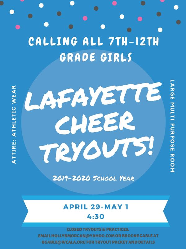 Lafayette Campus Upper School Cheer Tryouts Thumbnail Image